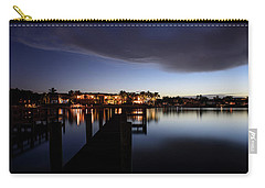 Carry-all Pouch featuring the photograph Blue Night by Laura Fasulo