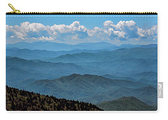Blue On Blue - Great Smoky Mountains Carry-all Pouch by Nikolyn McDonald