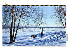 Carry-all Pouch featuring the photograph Blue On Blue by Phil Koch