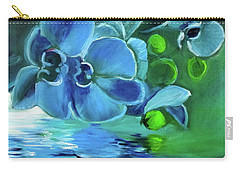 Blue Orchids Carry-all Pouch by Jenny Lee