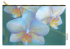 Blue Orchids12 Carry-all Pouch by Susan Crossman Buscho