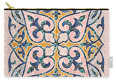 Blue Oriental Tile 01 Carry-all Pouch