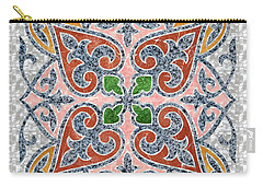 Blue Oriental Tile 03 Carry-all Pouch
