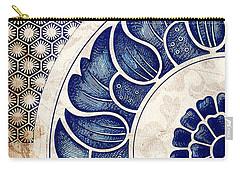 Blue Oriental Vintage Tile 05 Carry-all Pouch