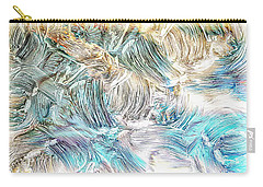 Carry-all Pouch featuring the photograph Blue Palette by Athala Carole Bruckner