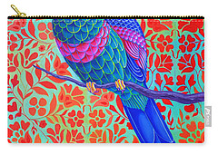 Blue Parrot Carry-all Pouch by Jane Tattersfield