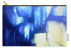 Carry-all Pouch featuring the painting Blue Patterns by Denise Fulmer