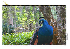 Blue Peacock  Carry-all Pouch by Joan Reese