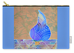 Blue Pear Carry-all Pouch by Nancy Jolley