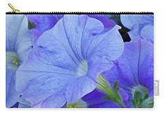 Blue Petunia Blossom Carry-all Pouch