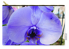 Blue Phalaenopsis Orchid Carry-all Pouch