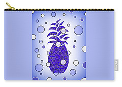 Blue Pineapple Carry-all Pouch by Kathleen Sartoris
