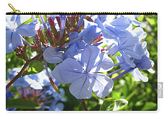 Carry-all Pouch featuring the photograph Blue Plumbago by Mary Ellen Frazee