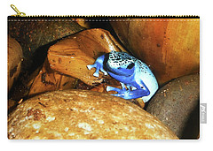 Carry-all Pouch featuring the photograph Blue Poison Dart Frog by Anthony Jones