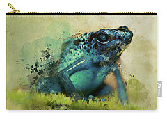 Blue Poisonous Frog Carry-all Pouch
