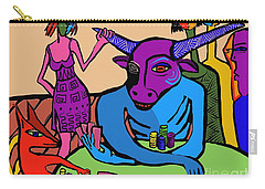 Blue Poker Bull Carry-all Pouch