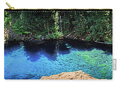 Carry-all Pouch featuring the photograph Blue Pool by Cat Connor