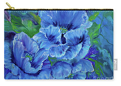 Blue Poppies 11 Carry-all Pouch by Jenny Lee
