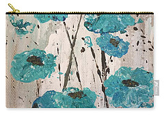 Carry-all Pouch featuring the painting Blue Poppies by Lucia Grilletto