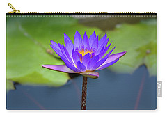 Blue Purple And Orange Water Lily Carry-all Pouch