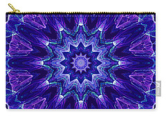 Blue And Purple Mandala Fractal Carry-all Pouch