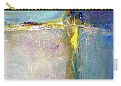 Carry-all Pouch featuring the painting Blue Quarters by Nancy Merkle
