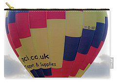 Blue, Red And Yellow Hot Air Balloon Carry-all Pouch