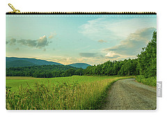 Blue Ridge Country Road Carry-all Pouch by Henri Irizarri