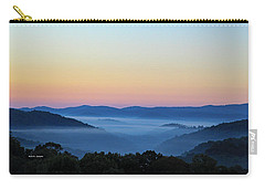 Blue Ridge Dawn Carry-all Pouch by Dale R Carlson