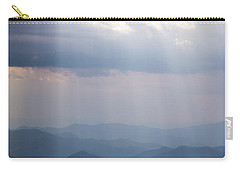 Blue Ridge Mountain Sun Ray Carry-all Pouch by Serge Skiba