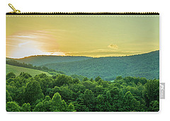 Blue Ridge Mountain Sunset Carry-all Pouch by Henri Irizarri