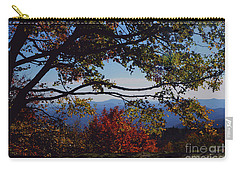 Carry-all Pouch featuring the photograph Blue Ridge Mountain View by Debra Crank
