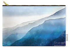 Carry-all Pouch featuring the painting Blue Ridge Mountians by Edward Fielding