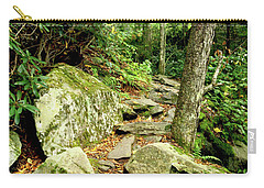 Carry-all Pouch featuring the photograph Blue Ridge Parkway Hiking Trail by Meta Gatschenberger