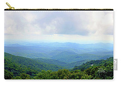 Carry-all Pouch featuring the photograph Blue Ridge Parkway Overlook by Meta Gatschenberger