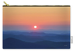 Blue Ridge Sunrise Carry-all Pouch by Dale R Carlson