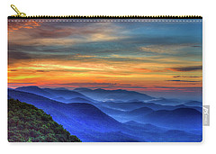 Carry-all Pouch featuring the photograph Blue Ridges 2 Pretty Place Chapel View Great Smoky Mountains Art by Reid Callaway