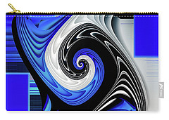 Carry-all Pouch featuring the digital art Blue River by Shadowlea Is