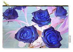 Blue Roses Abstract Carry-all Pouch