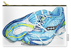 Blue Running Shoes Carry-all Pouch by Heidi Kriel