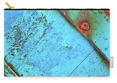 Blue Rusty Boat Detail Carry-all Pouch by Lyn Randle