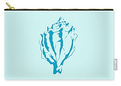 Blue Seashell Carry-all Pouch