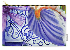 Blue Shoe, Painting Of A Painting Carry-all Pouch