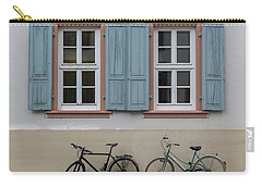Blue Shutters And Bicycles Carry-all Pouch