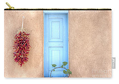 Blue Shutters And Chili Peppers Carry-all Pouch