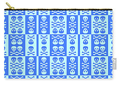 Blue Skull And Crossbones Pattern Carry-all Pouch