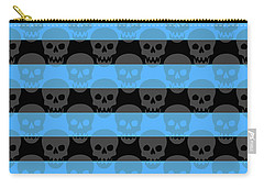 Blue Skull Stripes Carry-all Pouch