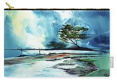 Carry-all Pouch featuring the painting Blue Sky by Anil Nene