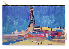 Carry-all Pouch featuring the painting Blue Sky Blackpool by Nop Briex