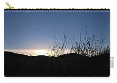Blue Sky Silhouette Landscape Carry-all Pouch